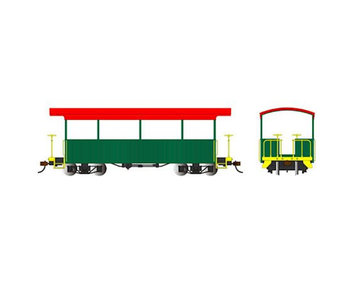 Bachmann Excursion Car (Green/Red Roof) (On30 Scale)