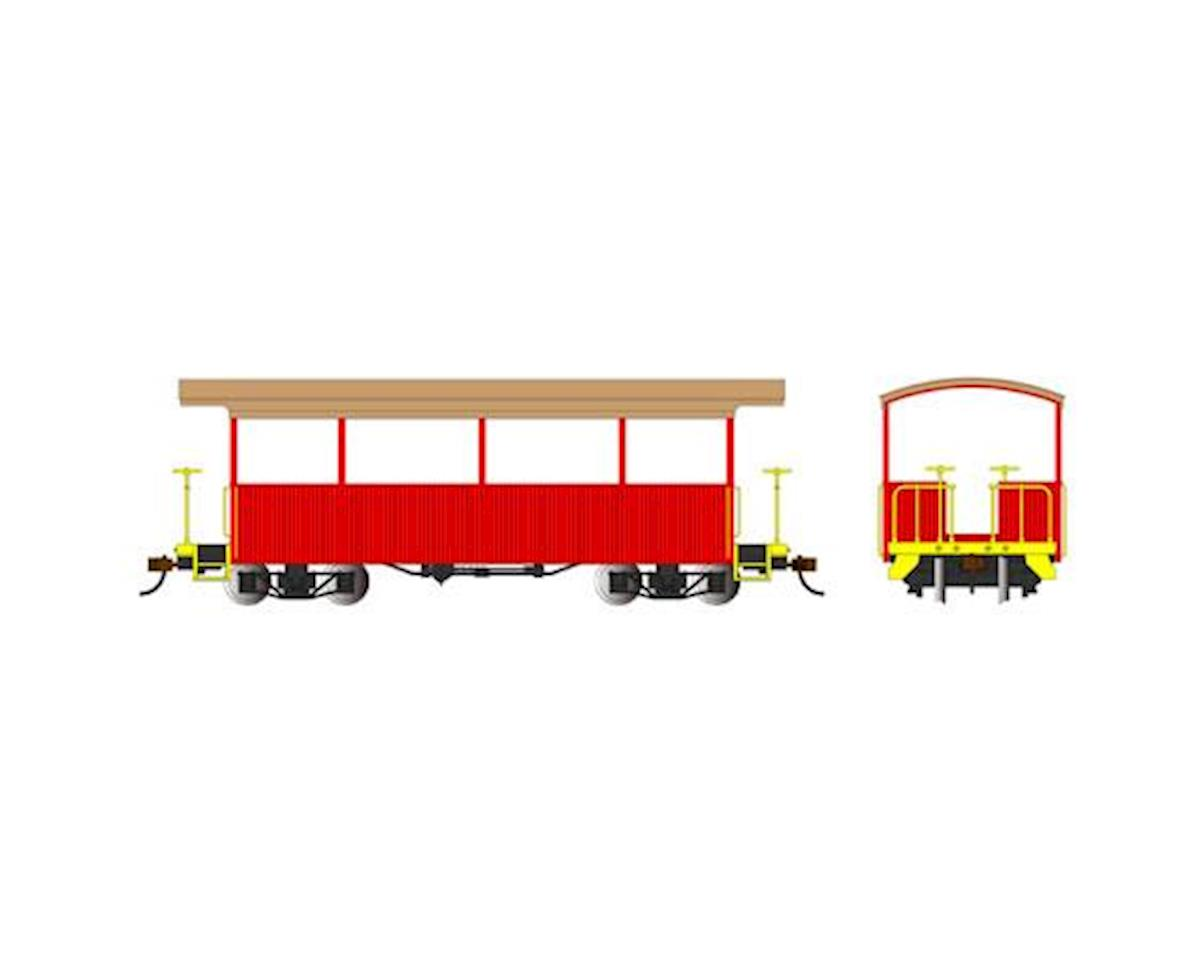 Bachmann On30 Spectrum Excursion Car, Red/Tan Roof