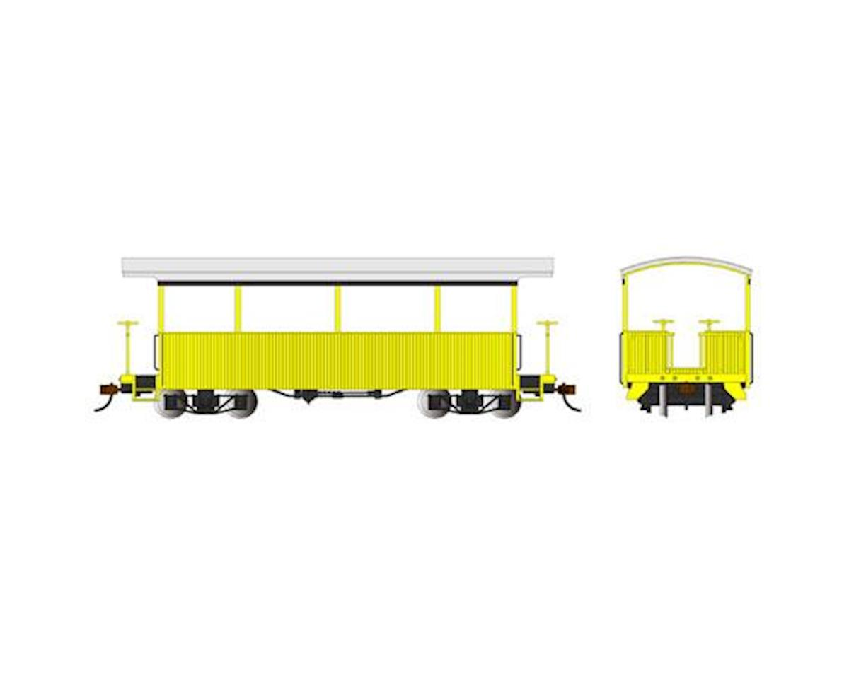 Bachmann On30 Spectrum Excursion Car, Yellow/Silver Roof