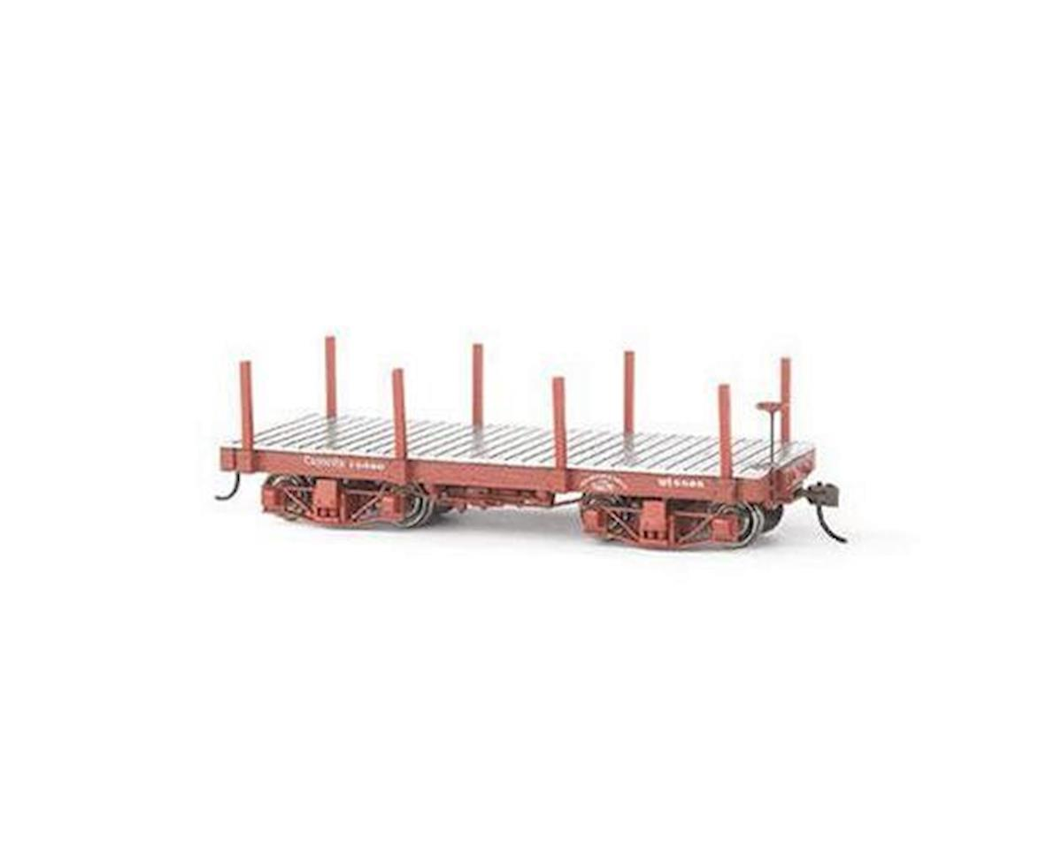 Bachmann 18 ft. Flat Car (Oxide Red) (2) (On30 Scale)