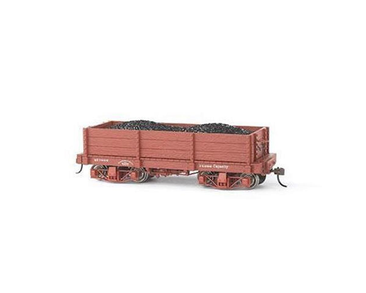 On30 Spectrum 18' Low-Side Gondola,Undecorated (2) by Bachmann