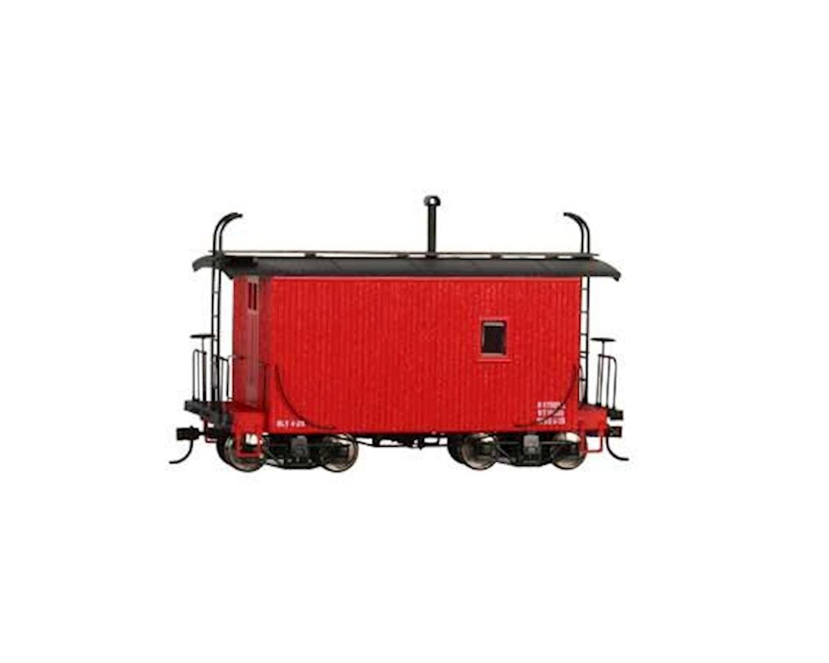 Bachmann On30 18' Logging Caboose, Red/Data Only