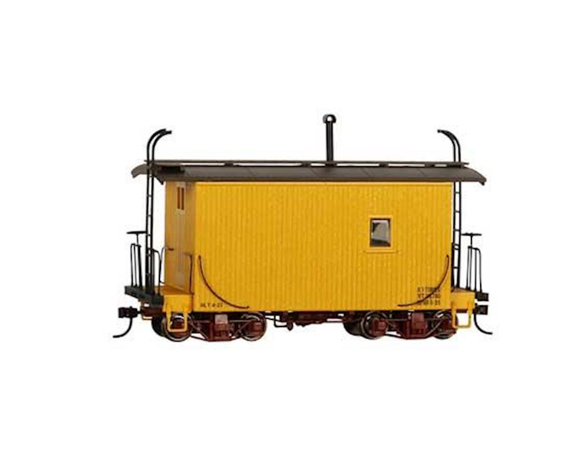 Bachmann On30 18' Logging Caboose, Yellow/Data Only