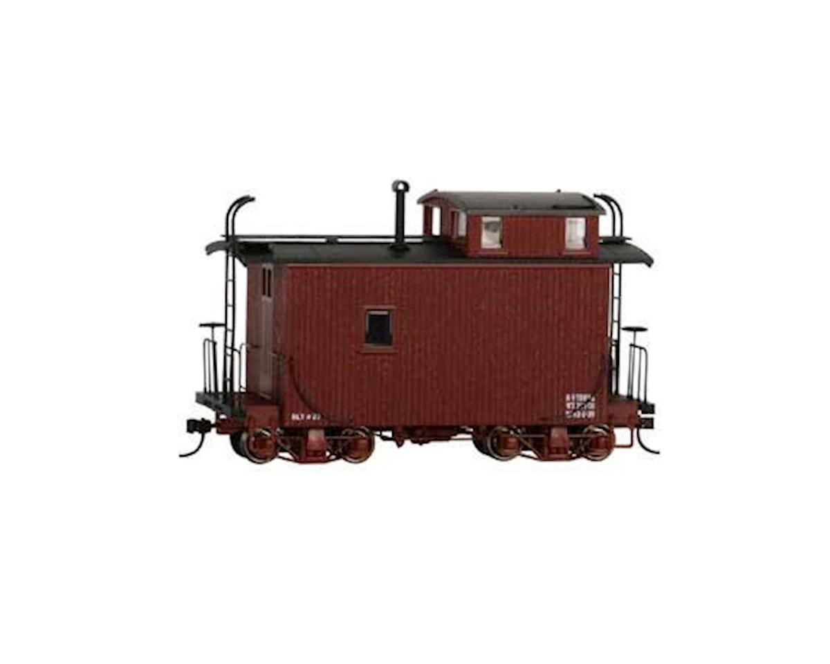 On30 18' Offset Cupola Caboose, Red/Data Only by Bachmann