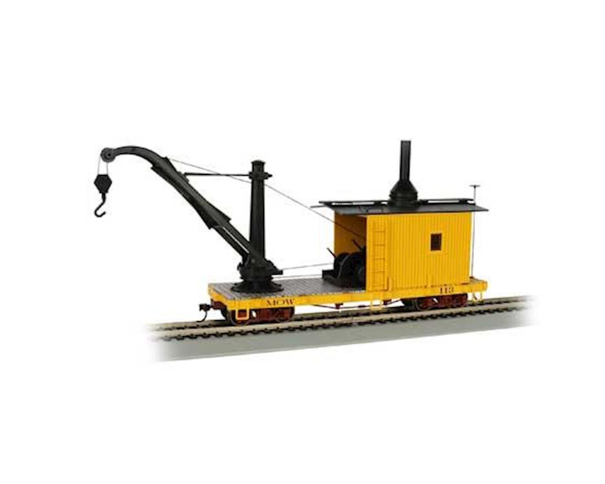 Bachmann On30 Spectrum Derrick Car, MOW/Yellow