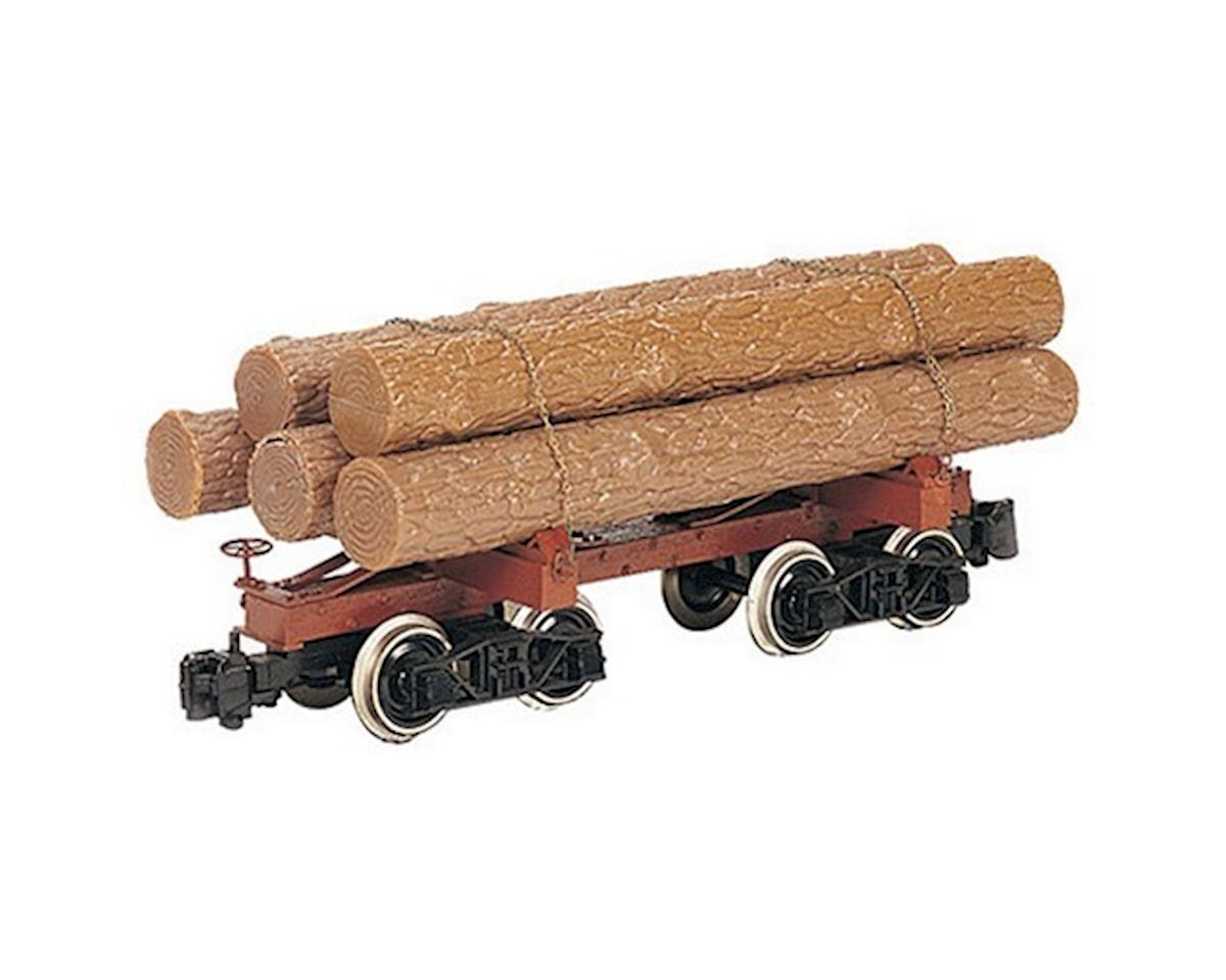 On30 Spectrum Skeleton Log Car (3) by Bachmann
