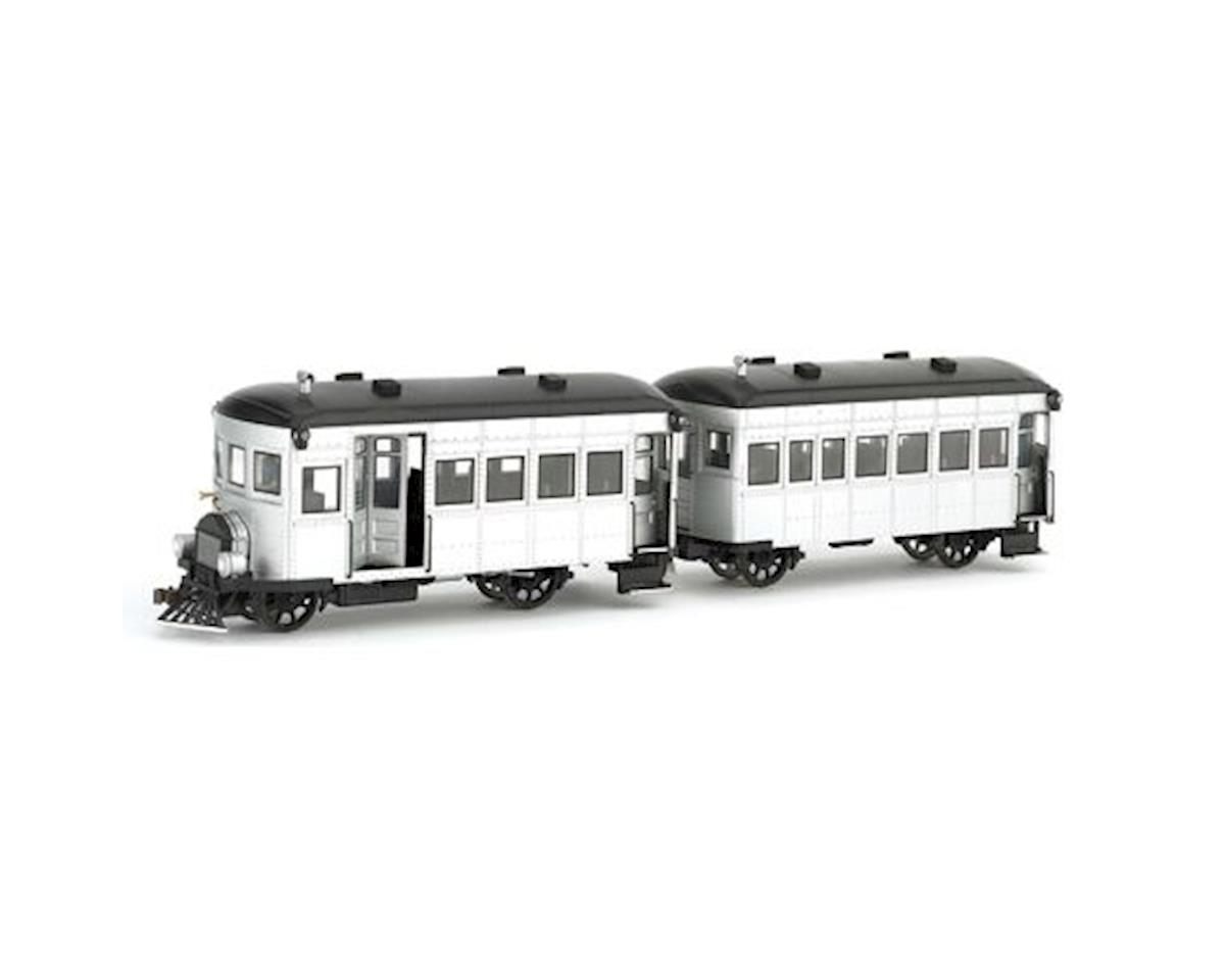 On30 Spectrum Rail Bus & Trailer w/DCC, Silver by Bachmann