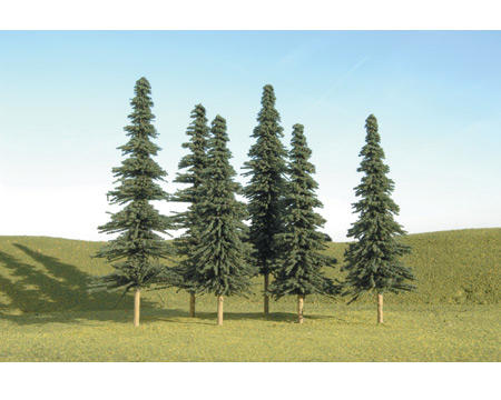 "Bachmann Scenescapes 5-6"" Spruce Trees (6)"