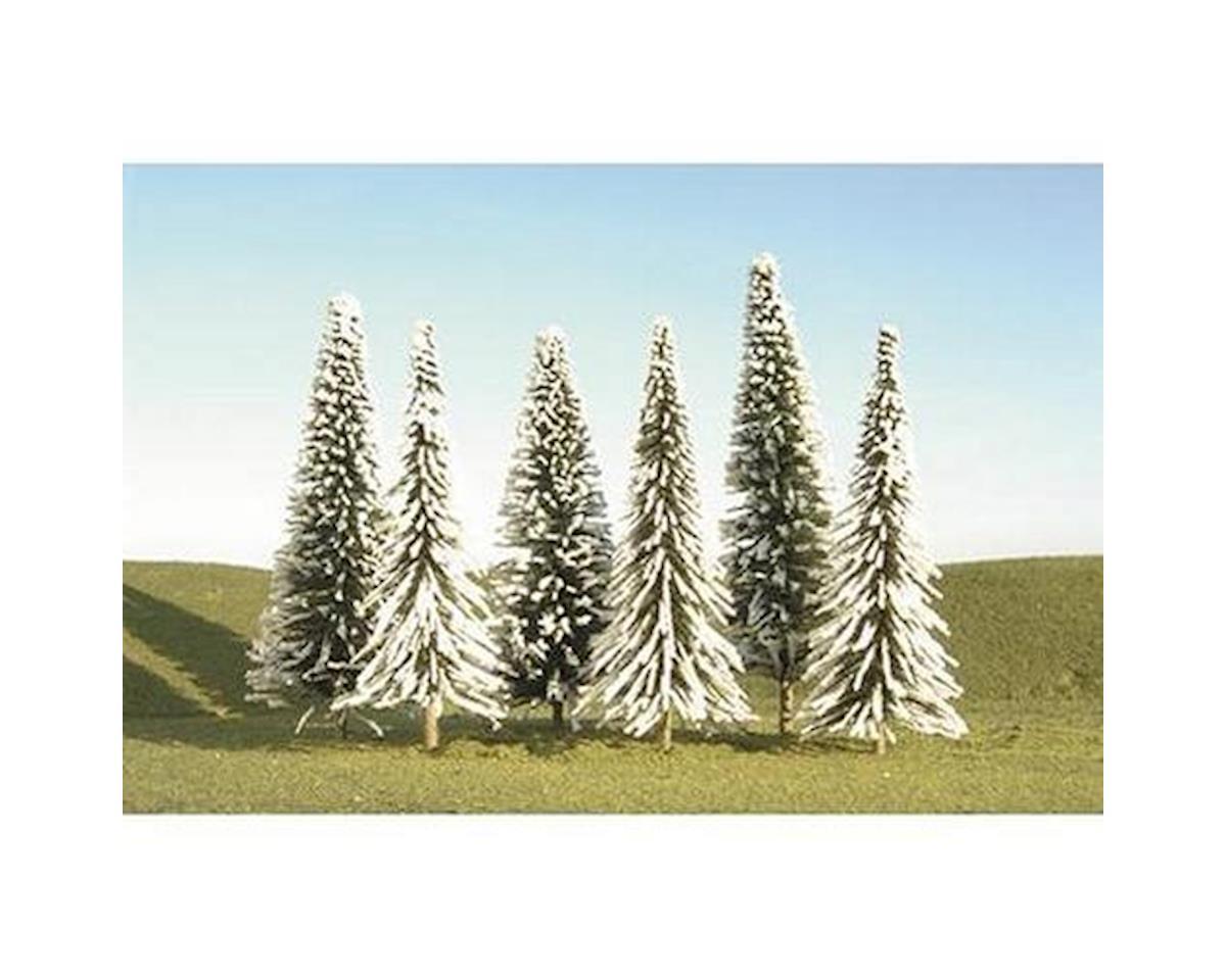 """Bachmann Pine Trees w/Snow, 8-10"""" (3)"""