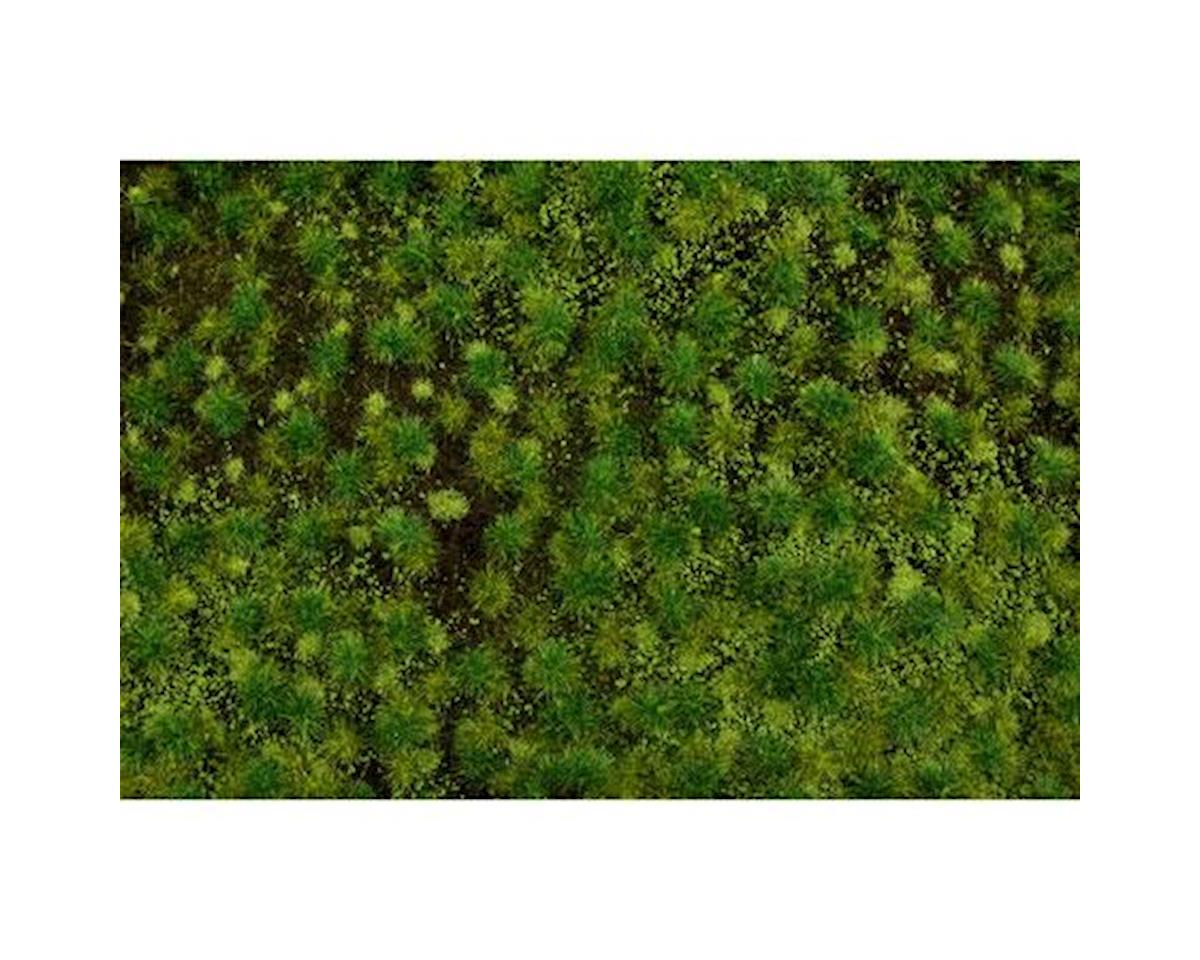 "Bachmann 11.75"" x 7.5"" Tufted Grass Mat, Medium Green"