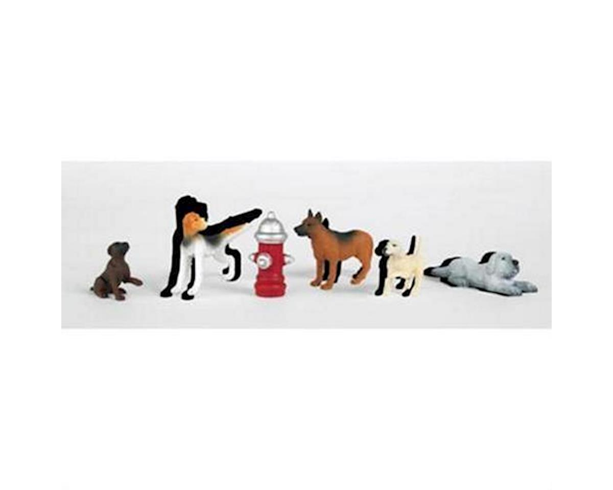 Bachmann HO Dogs with Fire Hydrant (6)