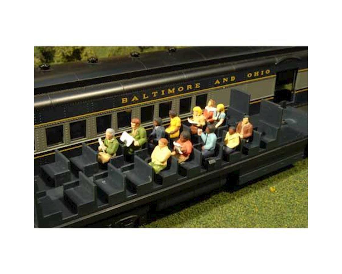 Bachmann HO Waist-Up Seated Passengers (12)