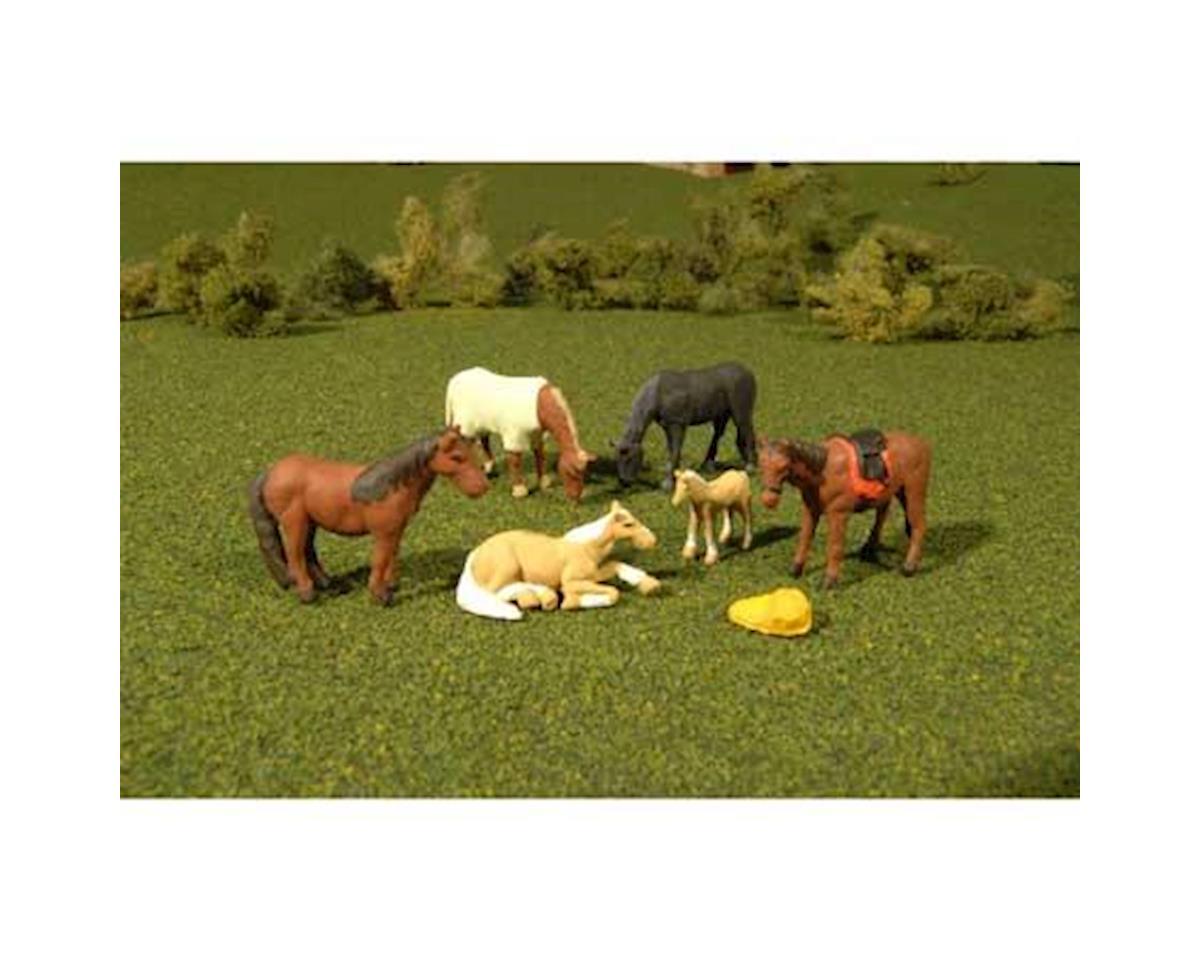 HO Horses (6) by Bachmann