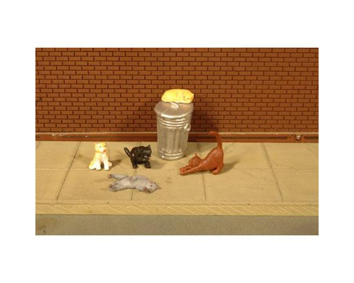 Bachmann O Cats with Garbage Can (6)
