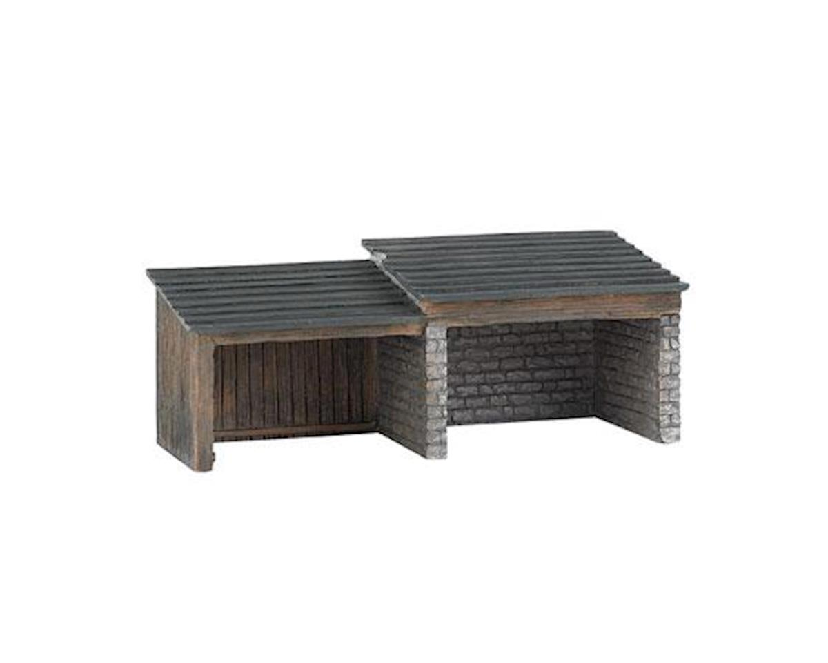 Bachmann HO Building Front, Storage Shed