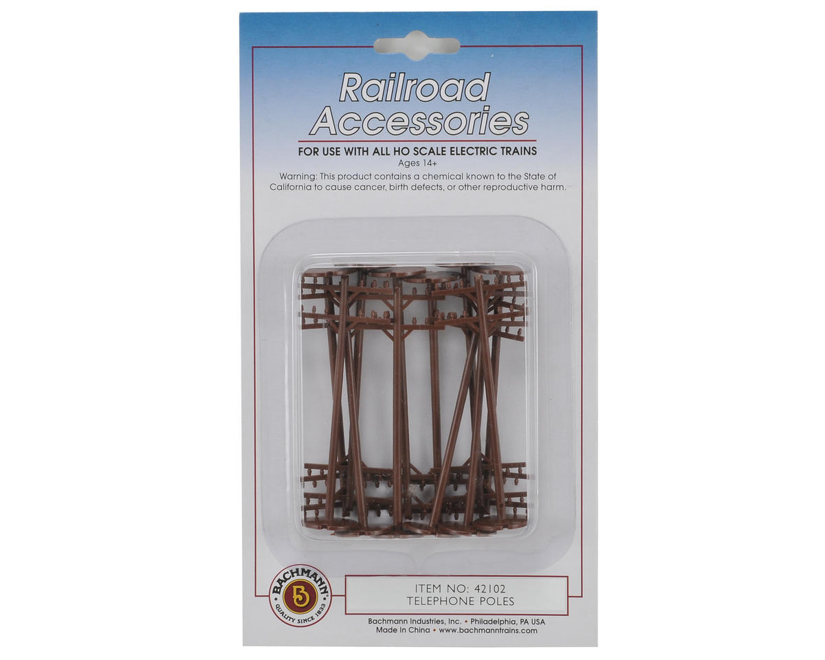 HO-Scale Telephone Poles (12) by Bachmann