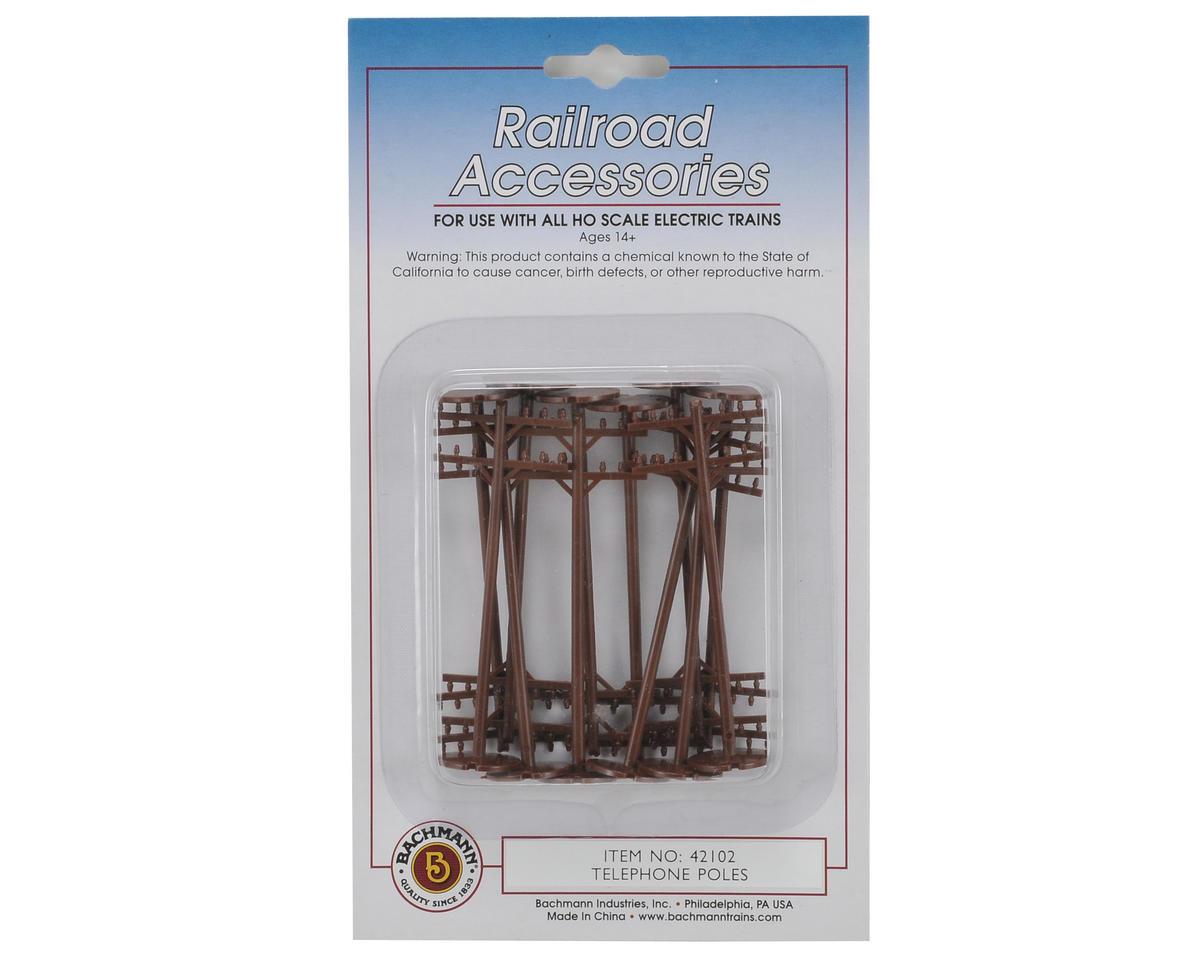 Bachmann HO-Scale Telephone Poles (12)