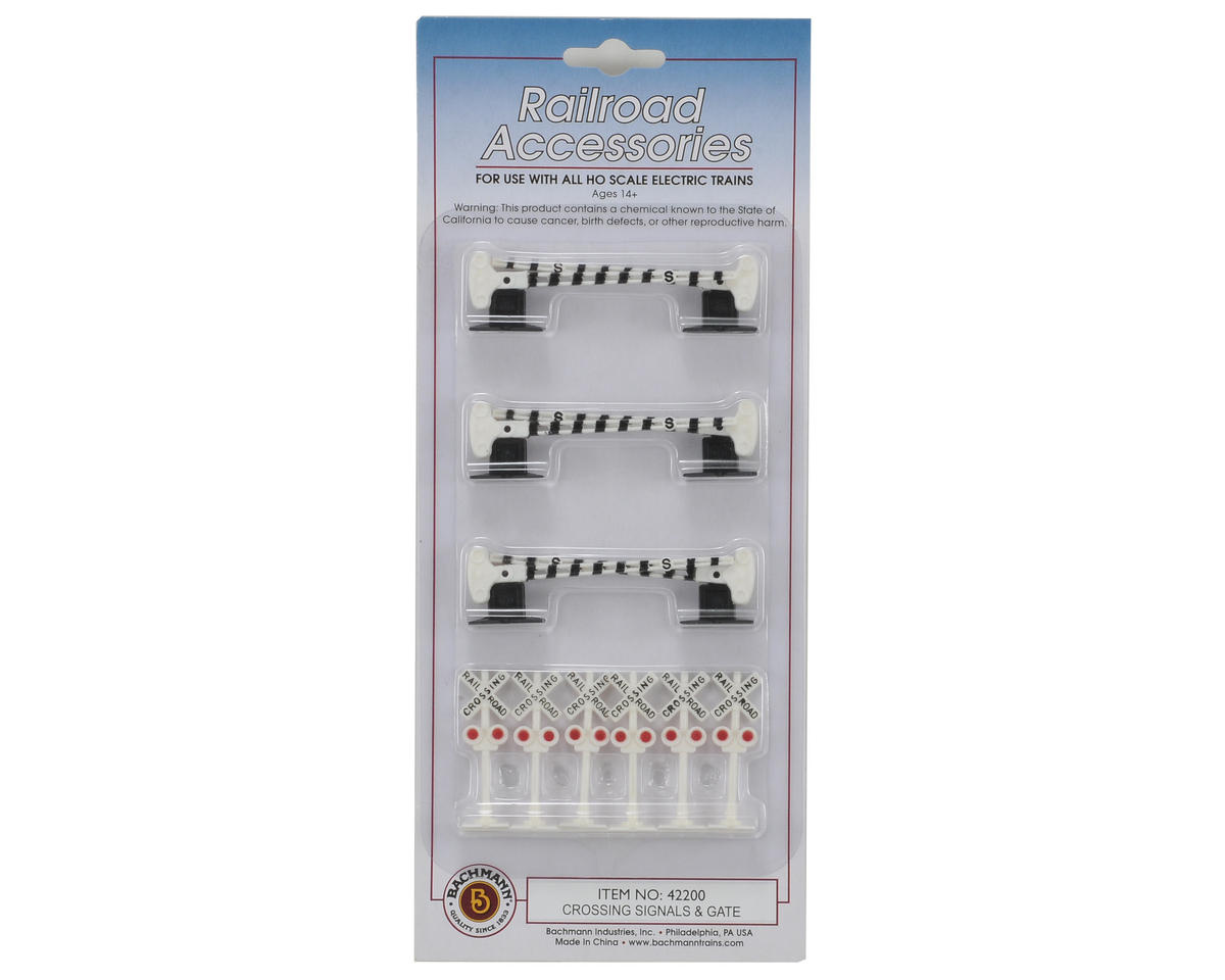 Bachmann HO-Scale Crossing Signals w/Gates (12)