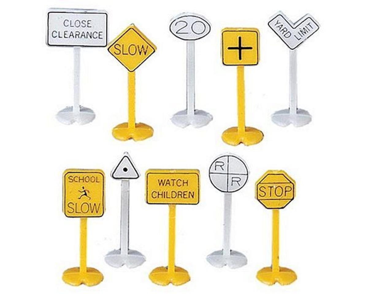 Bachmann HO Railroad & Street Signs (24)