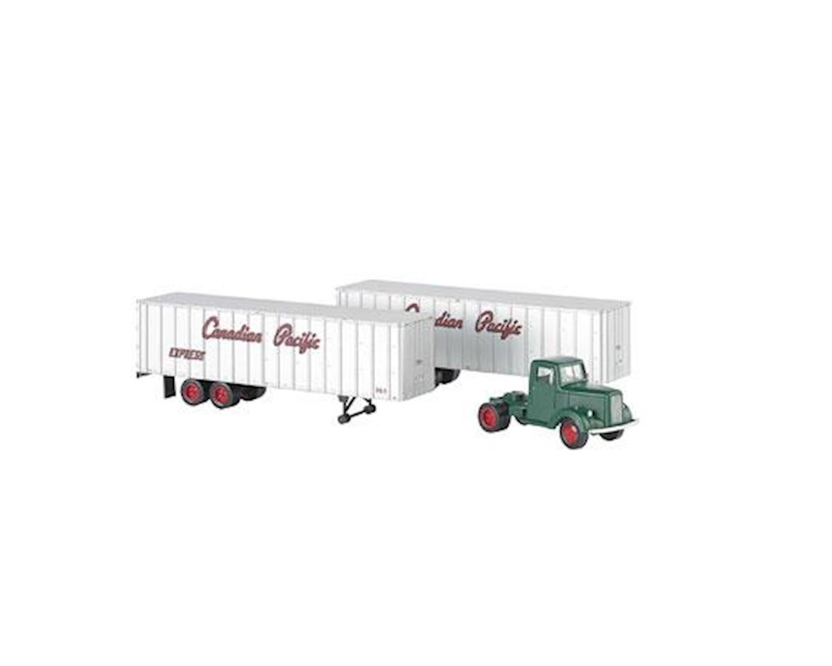 Bachmann Canadian Pacific Green Truck Cab & 2 Piggyback Trailers (HO Scale) | relatedproducts