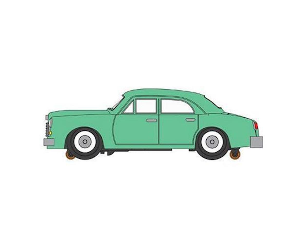 O E-Z Street Sedan, Seamist Green by Bachmann