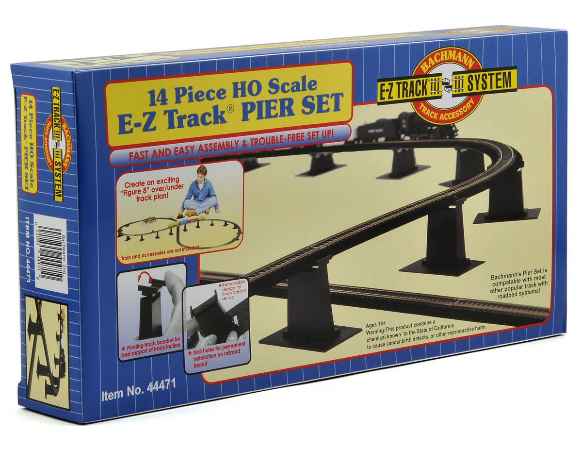 HO-Scale E-Z Track Graduated Pier Set (14) by Bachmann