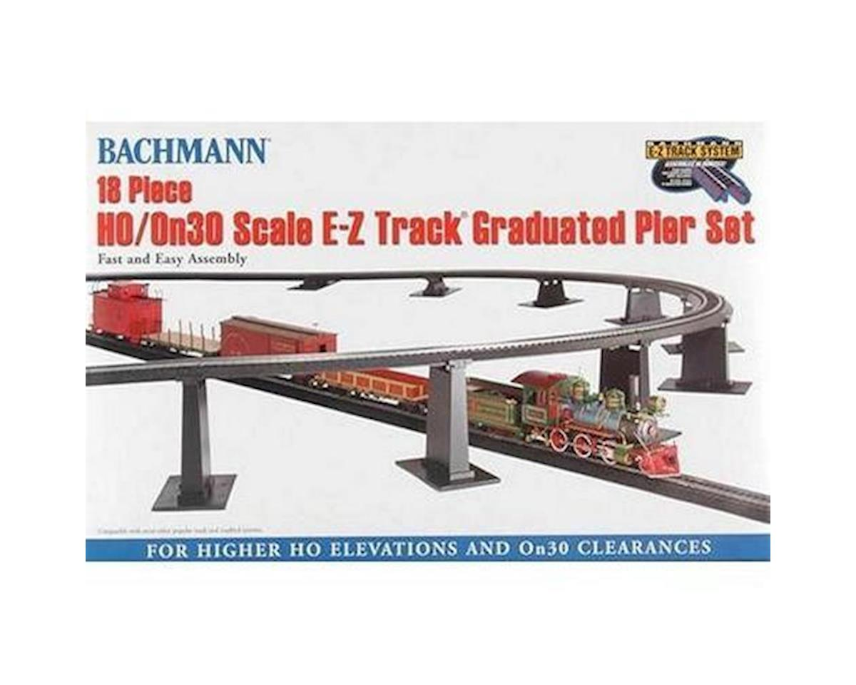 HO EZ Track Graduated Pier Set (18) by Bachmann