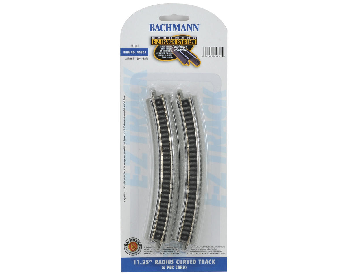 "Bachmann N-Scale E-Z Track 11 1/4"" Curved Track (6) (Nickel Silver)"