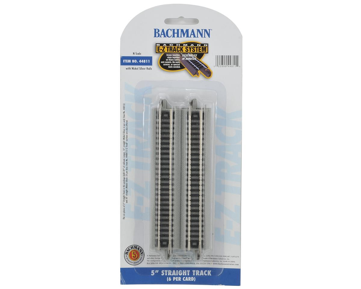 "Bachmann N-Scale E-Z Track Nickel Silver 5"" Straight (6)"