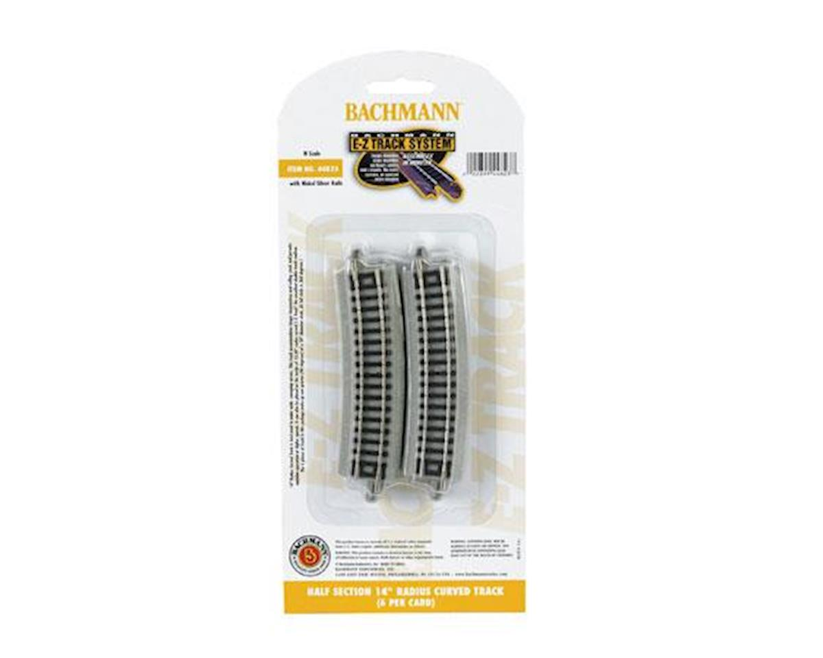 "Bachmann E-Z Track Half Section 14"" Radius Curved Track (6) (N Scale)"