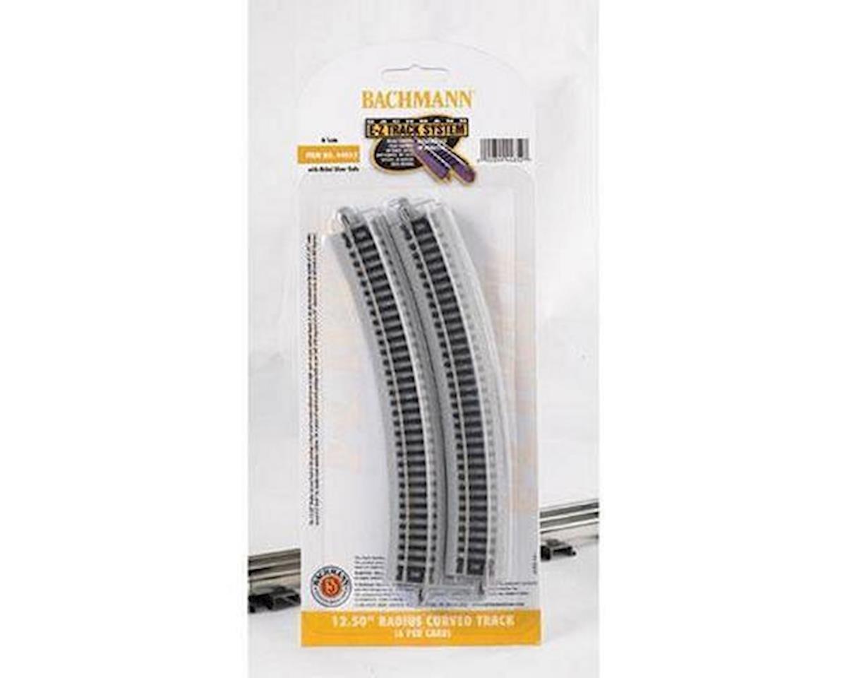 "Bachmann N 12-1/2"" Radius Curved Nickel Silver Track (6/Cd)"