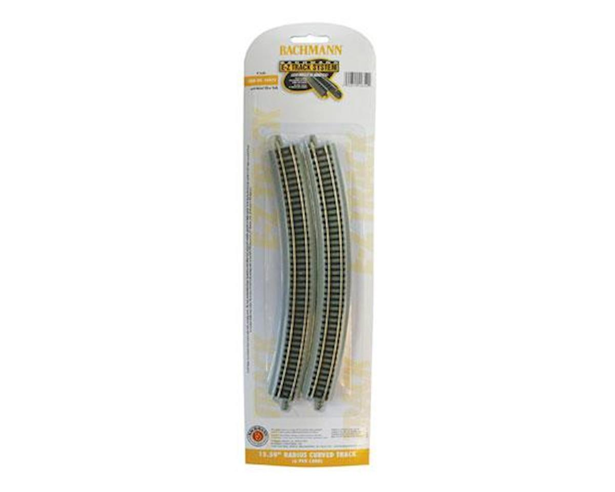 "Bachmann N 15-1/2"" Radius Curved Nickel Silver Track (6/Cd)"