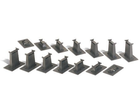 N-Scale E-Z Track Graduated Pier Set (16)
