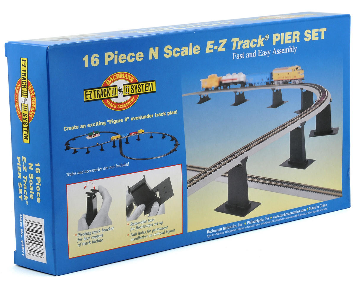 N-Scale E-Z Track Graduated Pier Set (16) by Bachmann