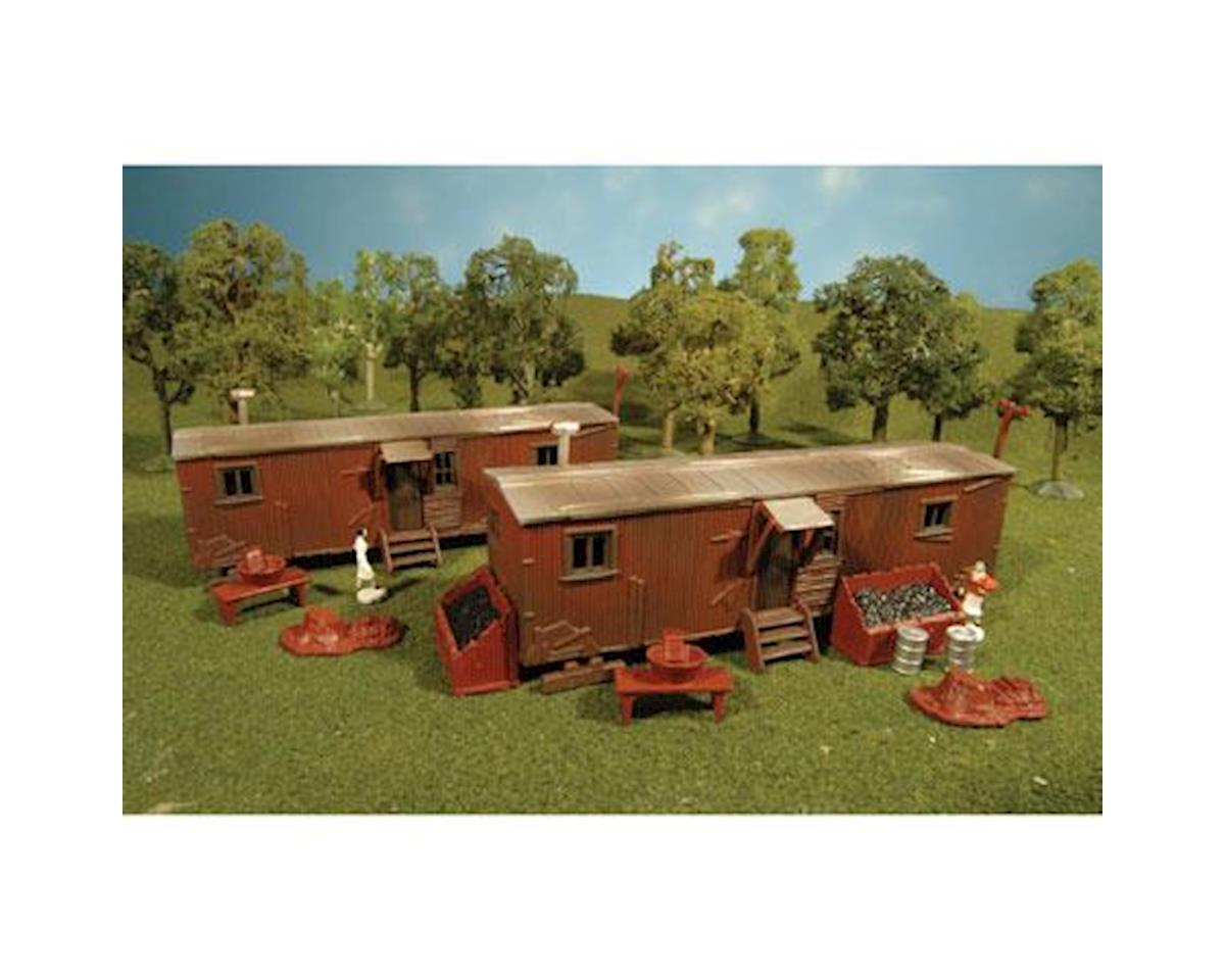 Bachmann HO Snap KIT Railroad Work Sheds (2)
