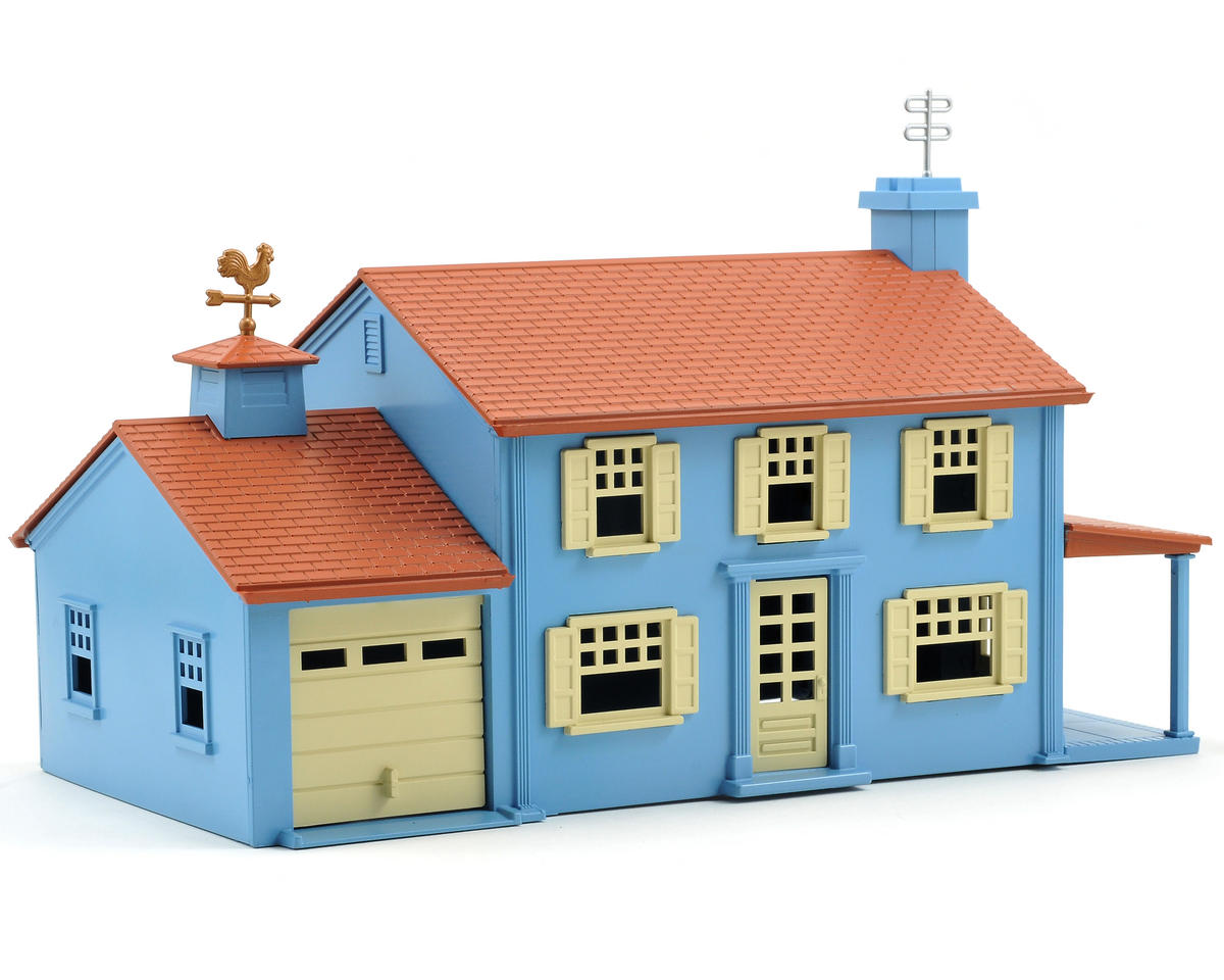 Bachmann O-Scale Plasticville Built-Up Two-Story House