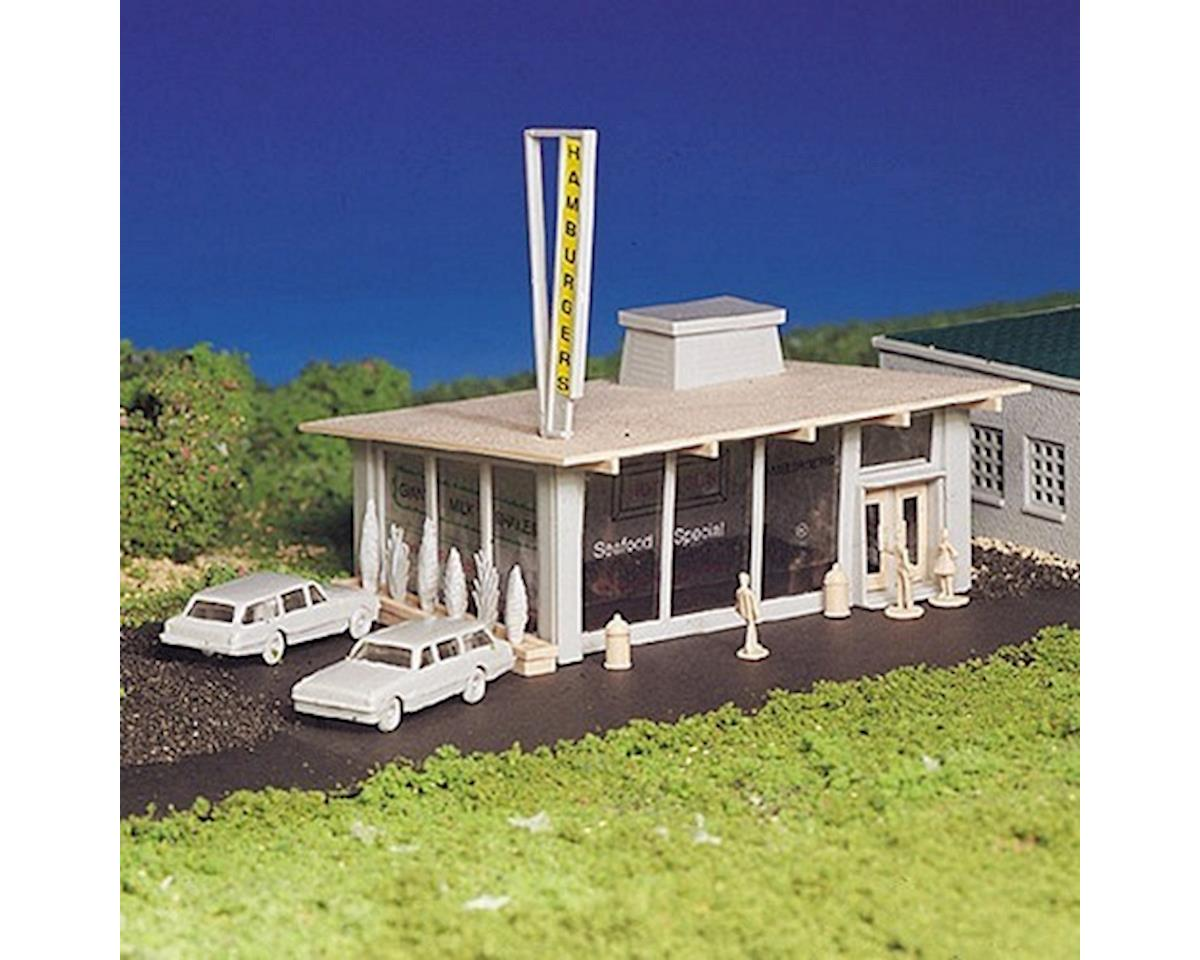 Bachmann HO Snap KIT Hamburger Stand