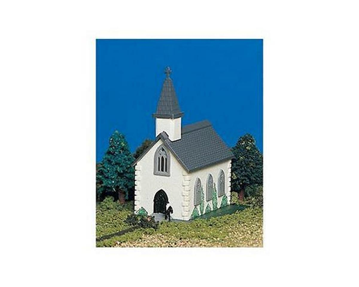 N-Scale Plasticville Built-Up Country Church by Bachmann