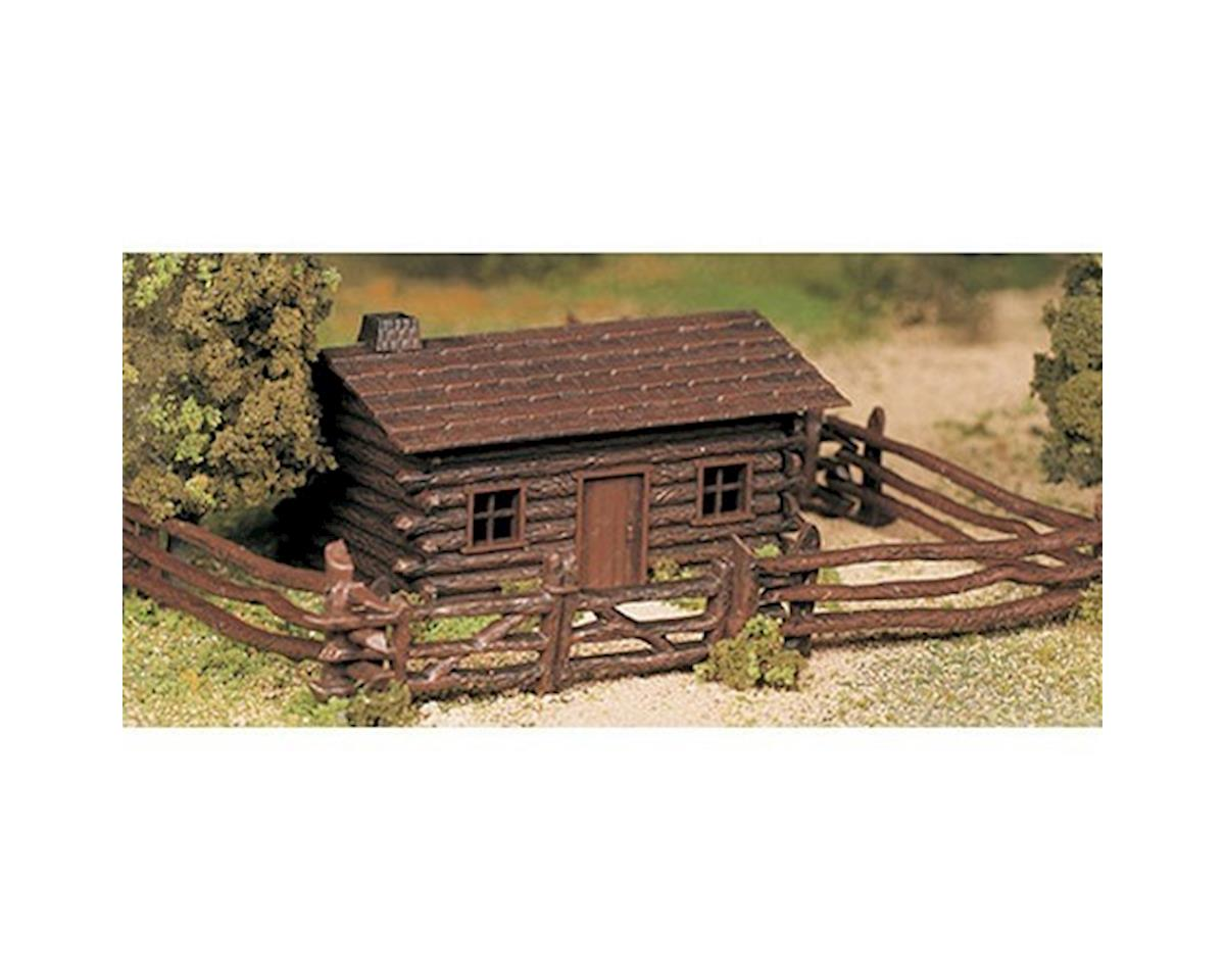 Bachmann O Snap KIT Log Cabin w/Rustic Fence