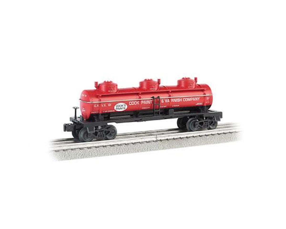 Bachmann O Williams 3-Dome Tank, Cook Paint & Varnish Co