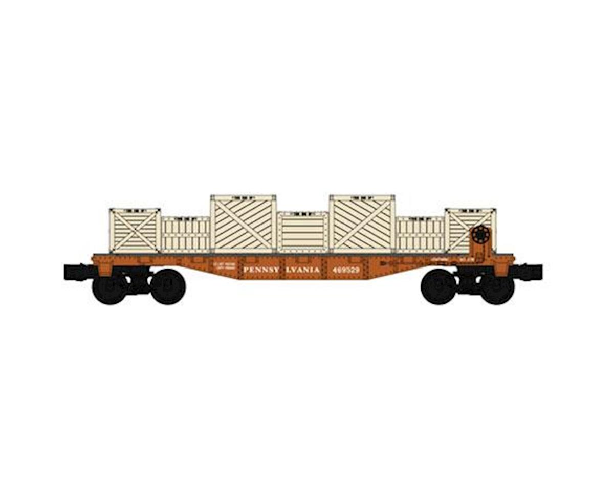 Bachmann O-27 Williams 40' Flat w/Crate Load, PRR