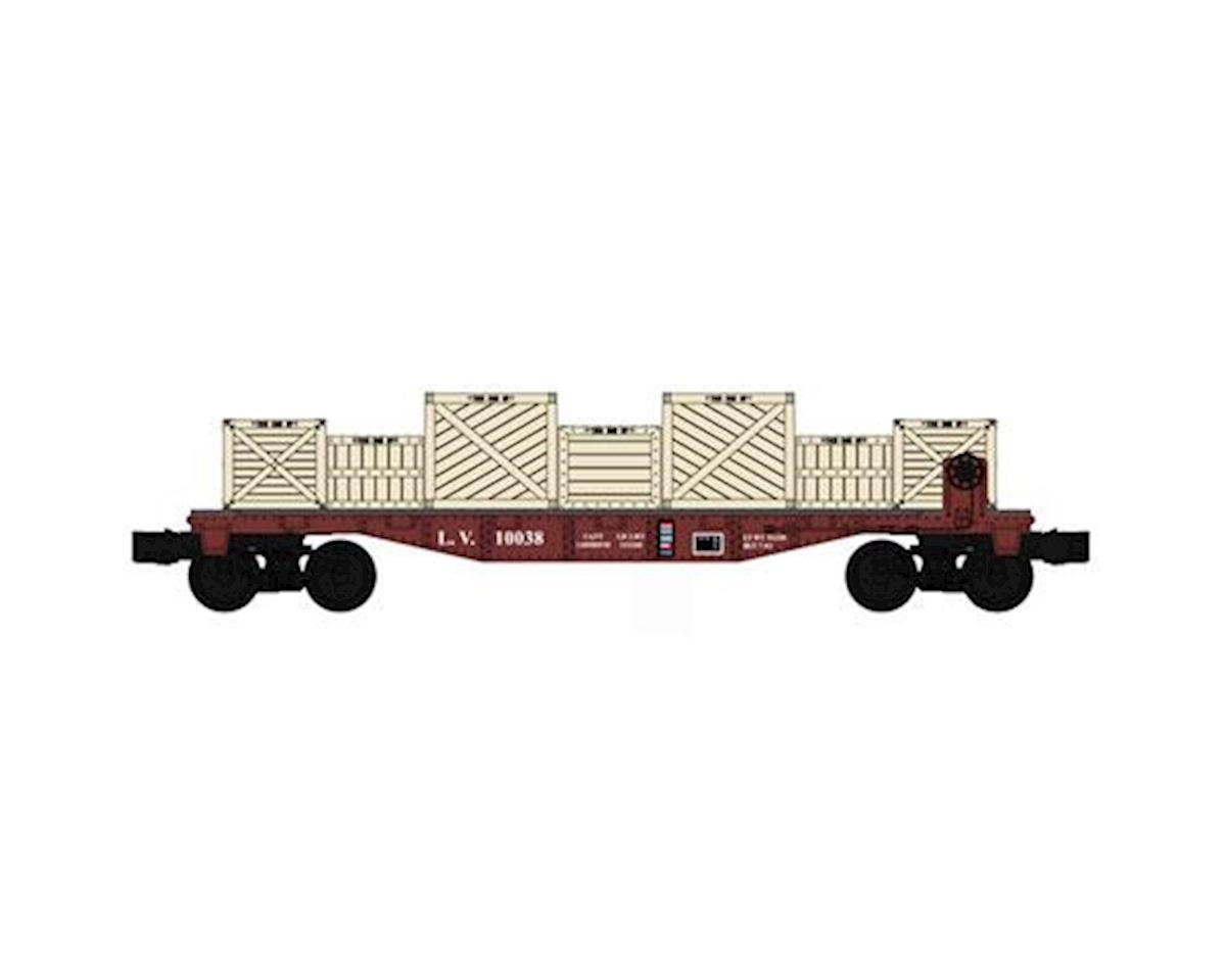 O-27 Williams 40' Flat w/Crate Load, LV by Bachmann