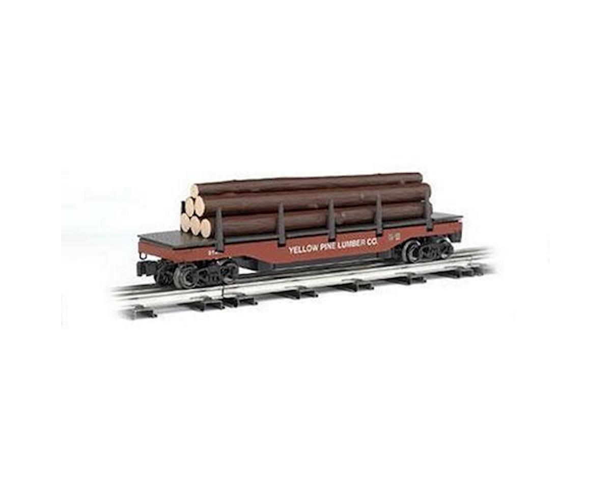 Bachmann O-27 Williams Operating Log Dump Car, Yellow Pine