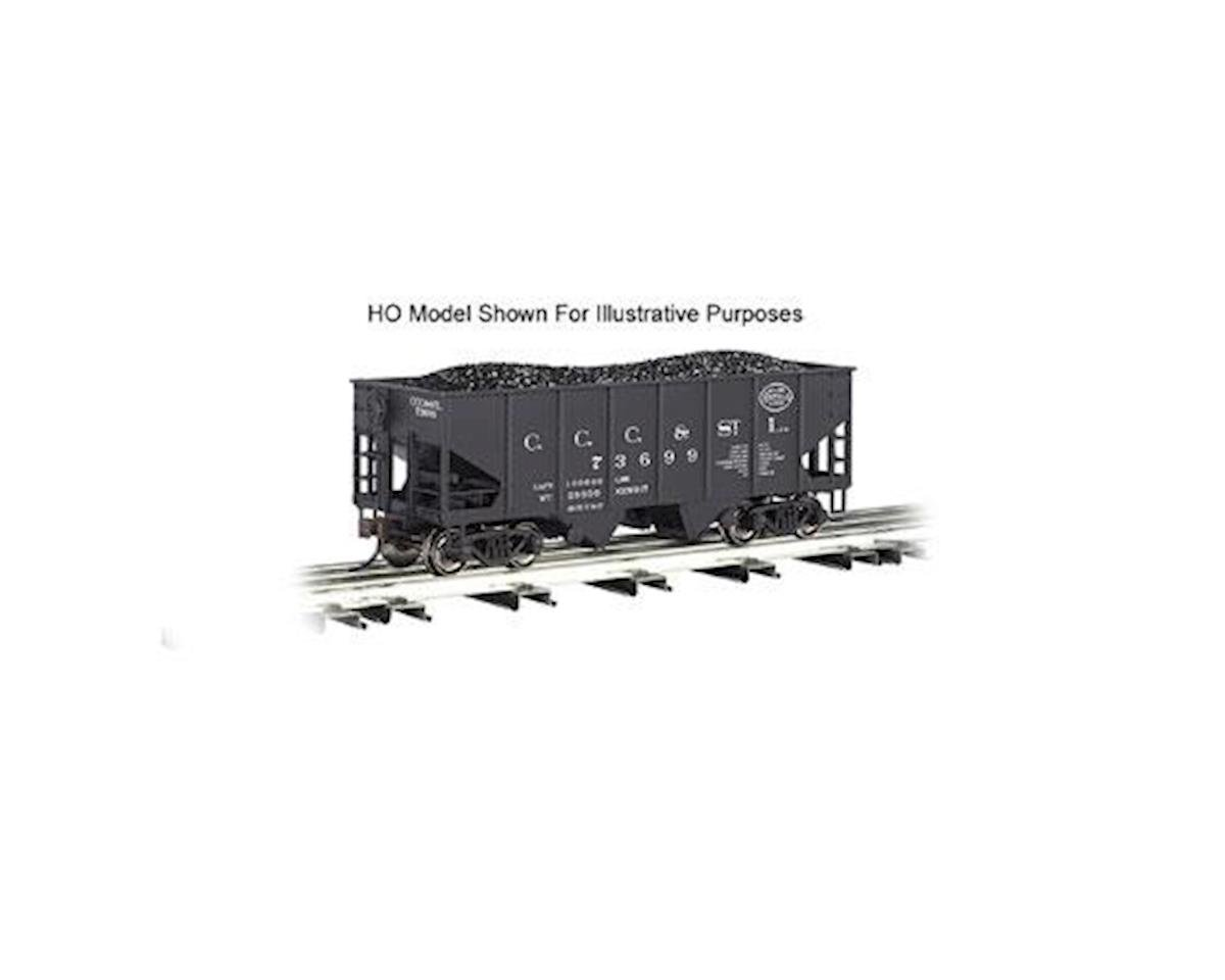 Bachmann O Williams 55-Ton 2-Bay Hopper w/Load,NYC/Big Four
