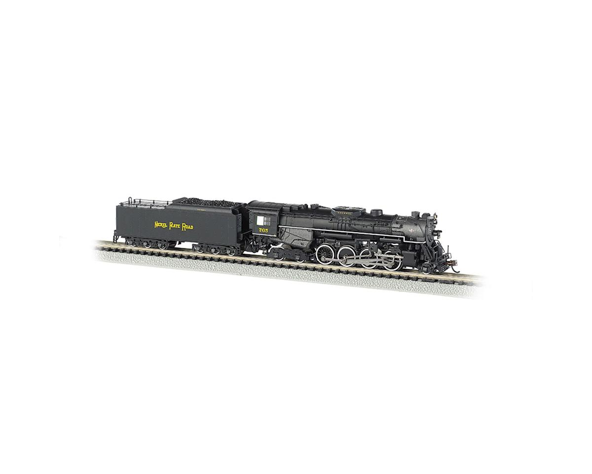 Bachmann N 2-8-4 w/DCC & Sound Value, NKP/Railfan #765