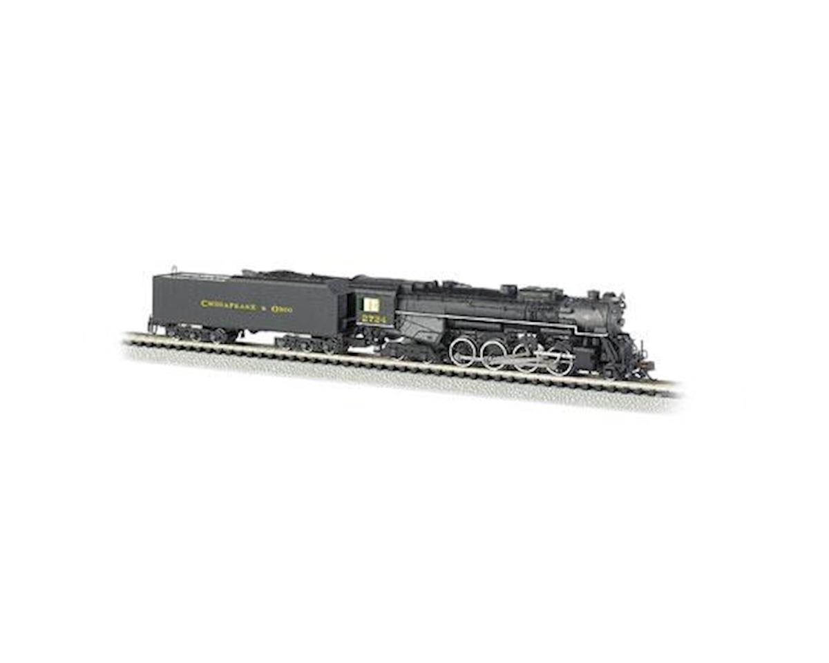 Bachmann N 2-8-4 w/DCC & Sound Value, C&O/Kanawha #2724