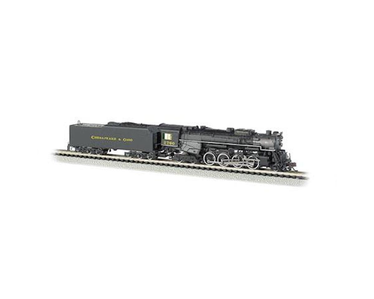 Bachmann N 2-8-4 w/DCC & Sound Value, C&O/Kanawha #2760