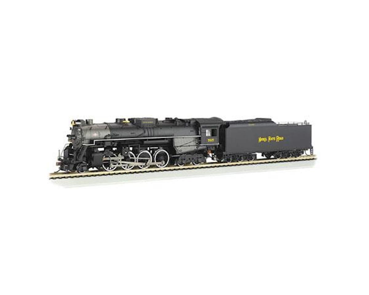 Bachmann HO 2-8-4 w/DCC & Sound Value, NKP/Railfan #765