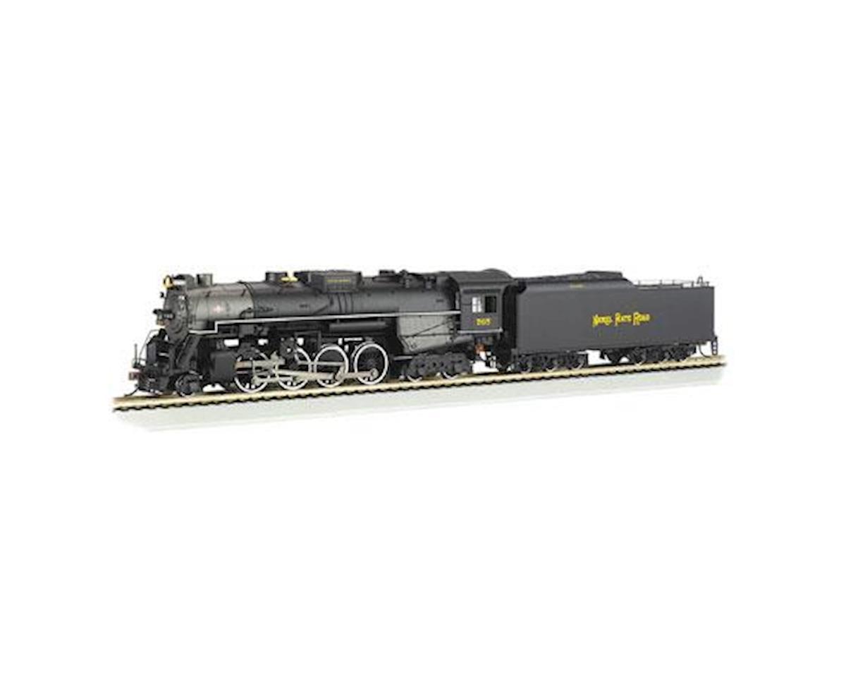 Bachmann HO 2-8-4 w/DCC & Sound Value, NKP/Railfan #765