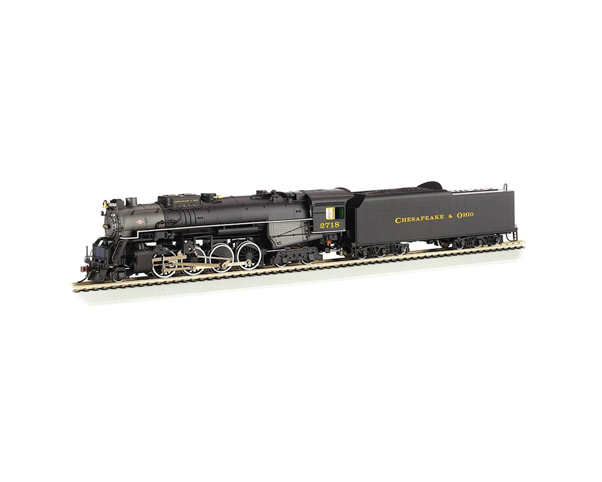 Bachmann HO 2-8-4 w/DCC & Sound Value, C&O/Kanawha #2718
